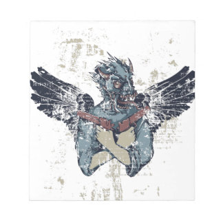 flying zombie with wings notepad