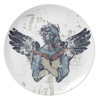 flying zombie with wings plate