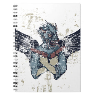 flying zombie with wings spiral notebook