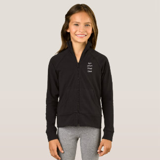 Fly'n Unicorn Drama Llama girls black hoodie
