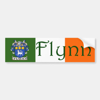 Flynn Coat of Arms Flag Bumper Sticker