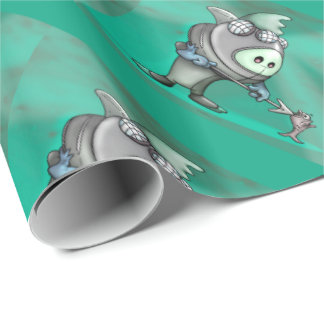 FLYNN DIVER CARTOON Wrapping Paper