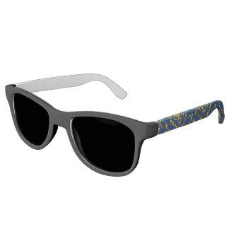 Flyology Lux Print blue Sunglasses