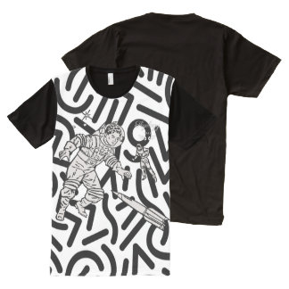 Flyology Space Cadets Abstract All-Over-Print T-Shirt