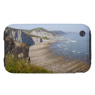 Flysch in the coast of Zumaia, Guipuzcoa, Basque Tough iPhone 3 Covers