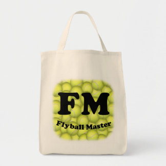 FM, Flyball Master Organic Grocery Tote Grocery Tote Bag