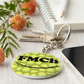 FMCh, Flyball Master Champion 15,000 Points Basic Round Button Keychain