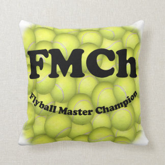 FMCh, Flyball Master Champion Throw Pillow
