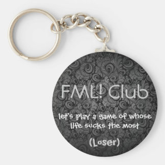 FML Club KC Loser Basic Round Button Keychain