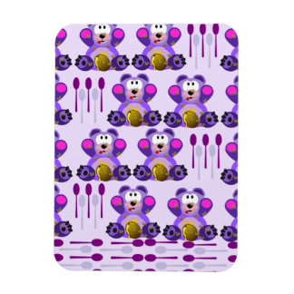 FMS Honey Bear with Spoons Rectangle Magnets