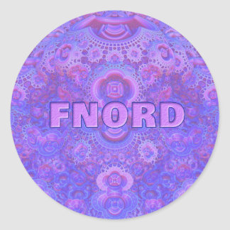 Fnord Classic Round Stickers (20)