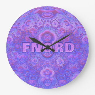 Fnord Large Round Wall Clock