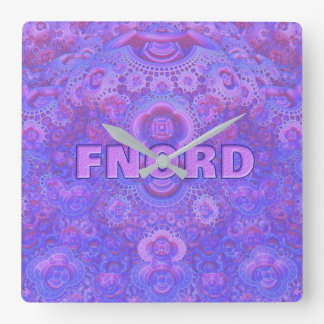 Fnord Square Wall Clock