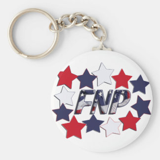 FNP PATRIOTIC STARS - FAMILY NURSE PRACTITIONER KEYCHAIN