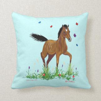 Foal and Butterflies American MoJo Pillow