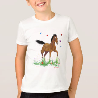 Foal and butterflies Kids Shirt