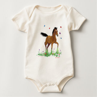 Foal and Butterflies Organic Onsie Baby Bodysuit