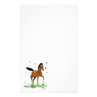Foal and Butterflies Stationary Stationery