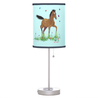 Foal And Butterflies Table Lamp