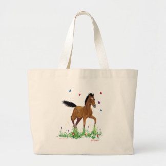 Foal and butterflies Tote