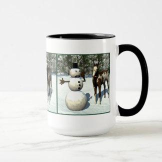 Foal and Snowman Mug