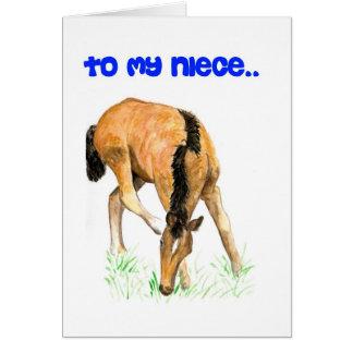 'Foal' Birthday Card for Niece