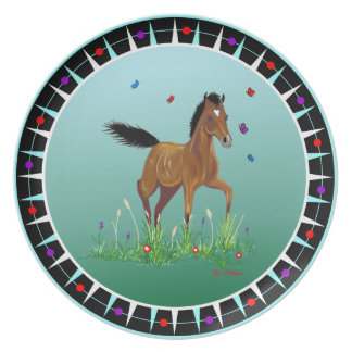 Foal & Butterflies Dinner Plate