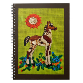 Foal Embroidery Spiral Notebooks