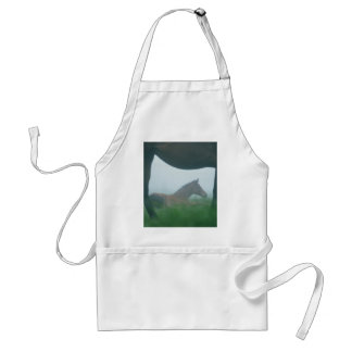 Foal Framed by its Mother Standard Apron