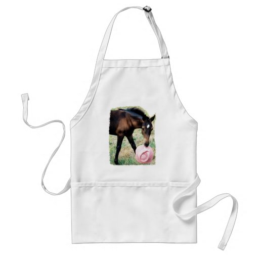 Foal with Pink Hat Apron