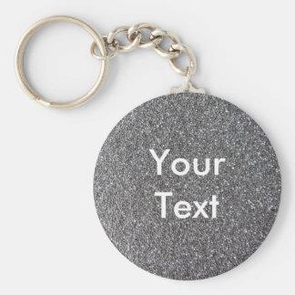 Foam Rubber Grey Keychain