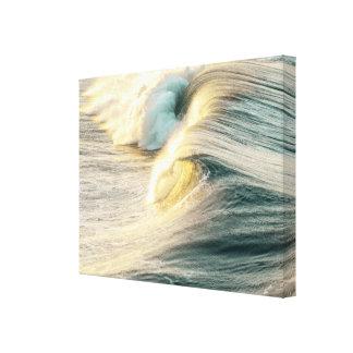Foamy Ocean Wave Canvas Print