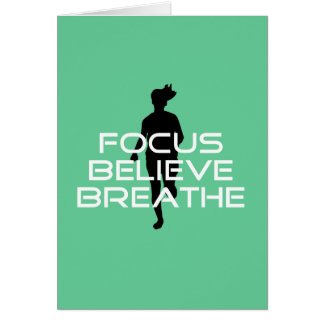 Focus Believe Breathe Running Card