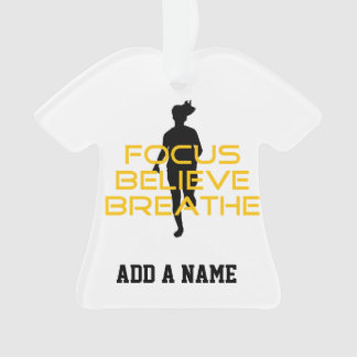 Focus Believe Breathe Yellow Running Fitness