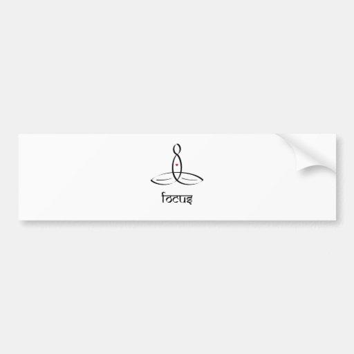 Focus - Black Sanskrit style Bumper Stickers