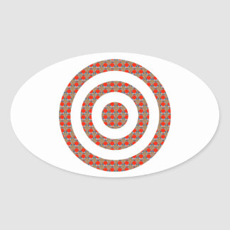 FOCUS Bull s EYE Artistic Golden Dot GIFTS ALL Oval Sticker