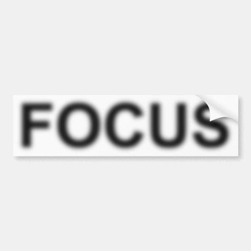 FOCUS Bumper Sticker