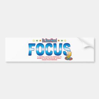 Focus Dr Bum Head Bumper Stickers