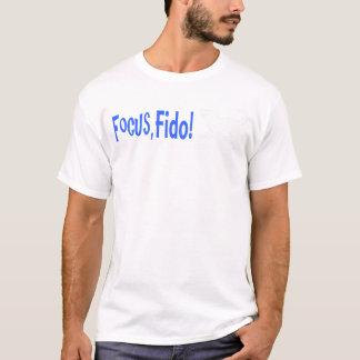 Focus, Fido! logo shirt