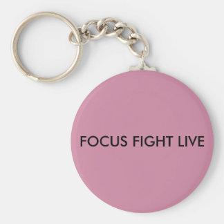 FOCUS- FIGHT- LIVE 2.25 PINK BASIC BUTTON KEYCHAIN