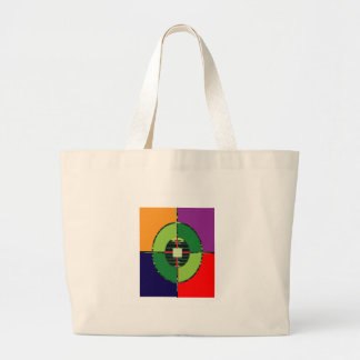 FOCUS Green Target EARTH  Global Warming NVN255 Canvas Bags