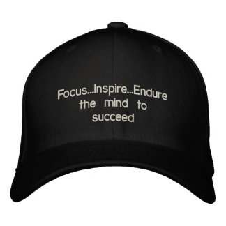 Focus..Inspire..Endure the mind to succeed Baseball Cap