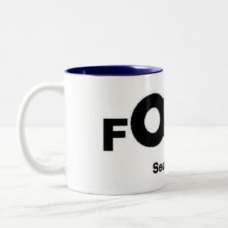 fOCus Logo, Season 30 Two-Tone Coffee Mug