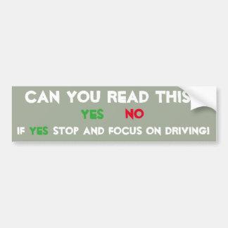 Focus on Driving Bumper Sticker