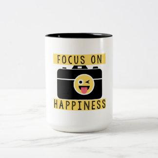 Focus on Happiness - Two Tone Coffee Mug