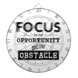 Focus On The Obstacle Dartboard