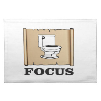 focus on the pot placemat