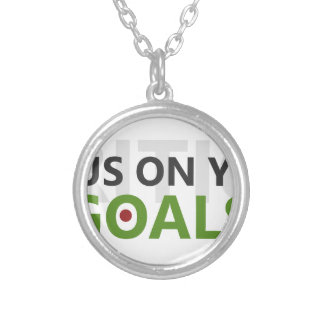 Focus on your goals silver plated necklace