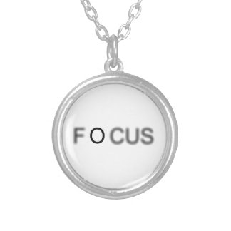 FOCUS SILVER PLATED NECKLACE