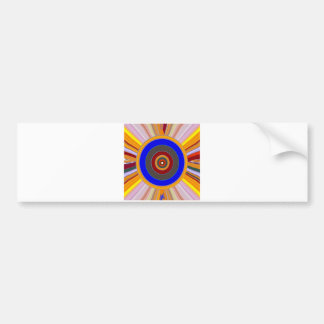 FOCUS Tool: Yoga Meditation Color Wheel DOT Bumper Stickers